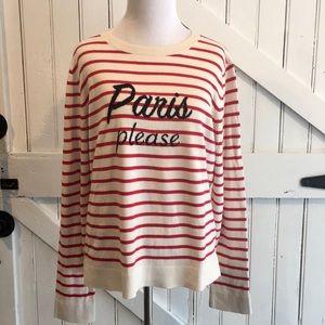 Banana Republic PARIS PLEASE Striped Sweater Sz L